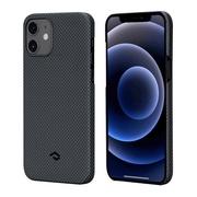 Чехол PITAKA MagEz Case для iPhone 12  (6.1'') Black/Blue Twill