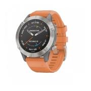 Часы Garmin Fenix 6 Sapphire титановый с оранжевым ремешком ( витринный)