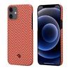 Чехол PITAKA MagEz Case для iPhone 12  (6.1'') Red/Orange Herringbone