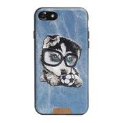 NiMMY Кожаный Чехол с Вышивкой iPhone 7+/8+
