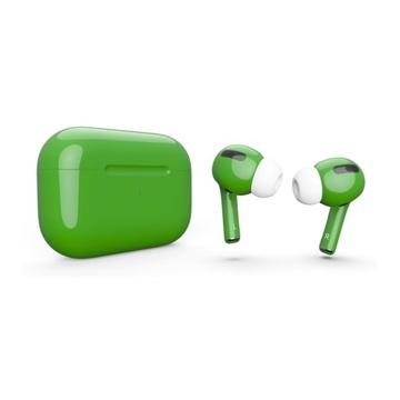 Слайд Беспроводные наушники Apple AirPods Pro зеленые