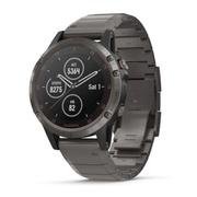 Часы Garmin Fenix 5 sapphire черные с черным титановым браслетом