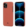 Чехол PITAKA MagEz Case для iPhone 12 pro max (6.7'') Red/Orange Herringbone