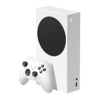 Слайд Игровая приставка Microsoft Xbox Series S 512 ГБ, белый/черный