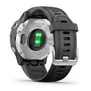 Часы Garmin Fenix 6s Solar серебристый с черным ремешком