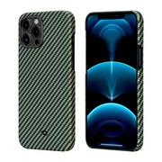 Чехол PITAKA MagEz Case для iPhone 12 pro max  (6.7'') Black/Yellow Twill