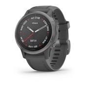 Часы Garmin Fenix 6S Sapphire серый DLC с черным ремешком