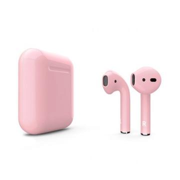 Слайд Беспроводные наушники Apple AirPods 2 розовые